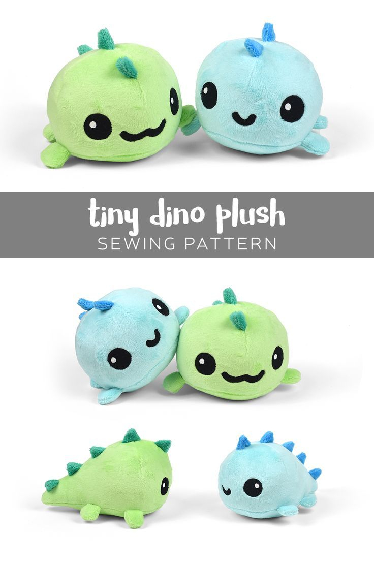 Dino Plush Softie Pattern Free Pdf Download. Cuteness Overload - Free Printable Stuffed Animal Patterns