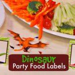 Dinosaur Party Food Labels | Free Printable   Free Printable Dinosaur Labels