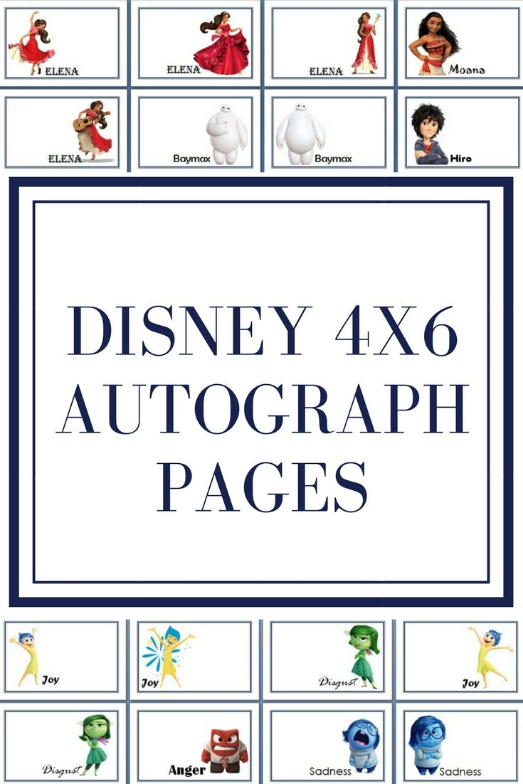Disney Autograph Pages - Free Printable #disneyworld #disneyland - Free Printable Autograph Book For Kids