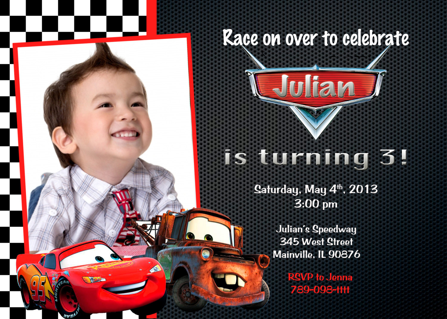 Disney Cars Invitation - Free Printable Disney Cars Birthday Party Invitations