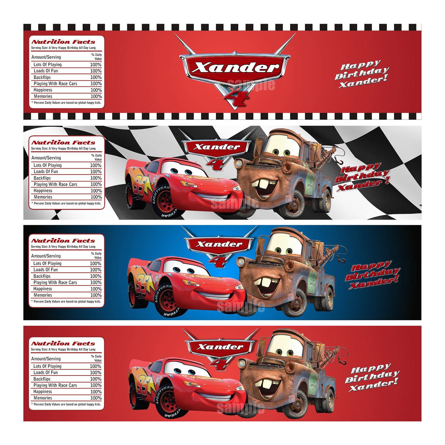 Disney Cars Water Bottle Labels - Personalized And Printable For - Free Printable Cars Water Bottle Labels
