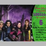 Disney Descendants Invitation Disney Descendants Birthday | Etsy   Free Printable Descendants Invitations
