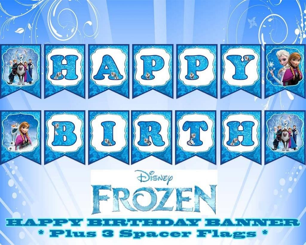 Disney Frozen Happy Birthday Banner | Birthday | Pinterest | Happy - Frozen Birthday Banner Printable Free