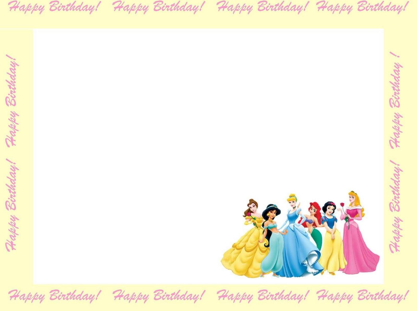 Disney Princess Birthday Invitation Free Template - Disney Princess Birthday Invitations Free Printable