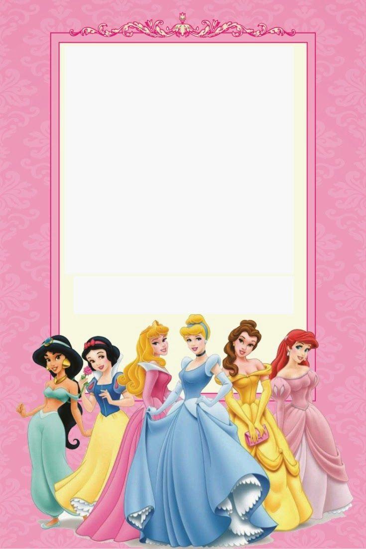 Disney Princess Birthday Invitations Printable Free   Borders And - Free Printable Disney Invitations