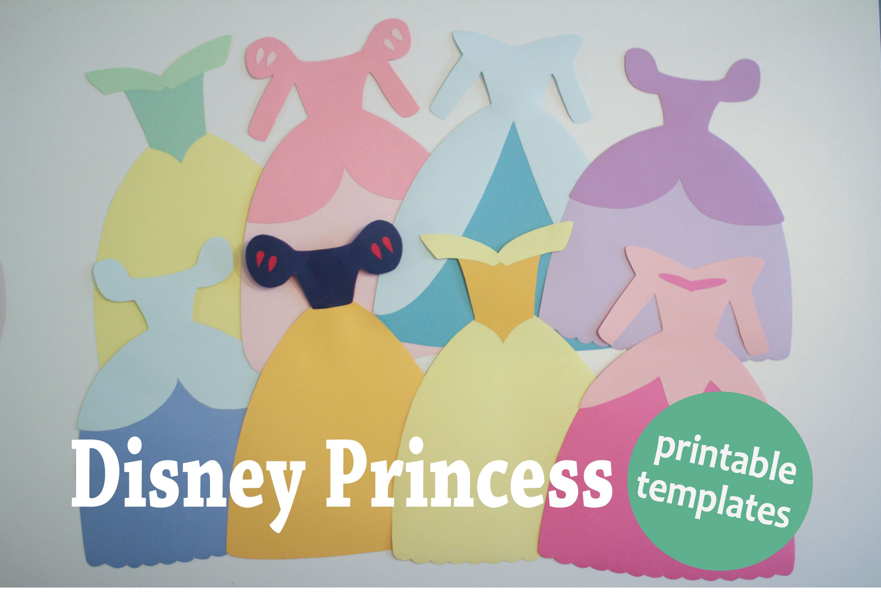 Disney Princess Dress Paper Templates - Hot Hands Bakery | Disney - Free Printable Princess Birthday Banner