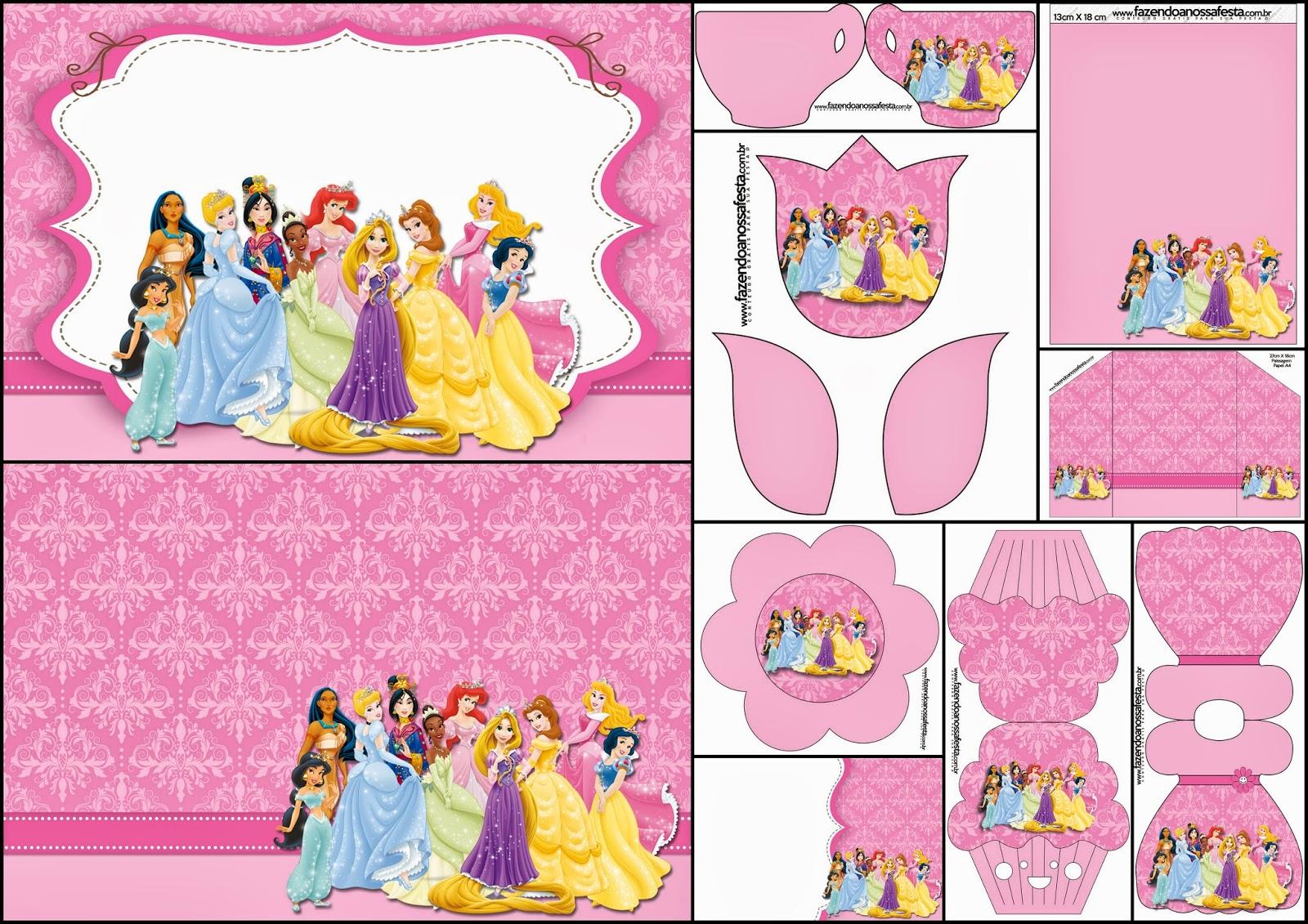Disney Princess Party: Free Printable Party Invitations.   Oh My - Disney Princess Free Printable Invitations