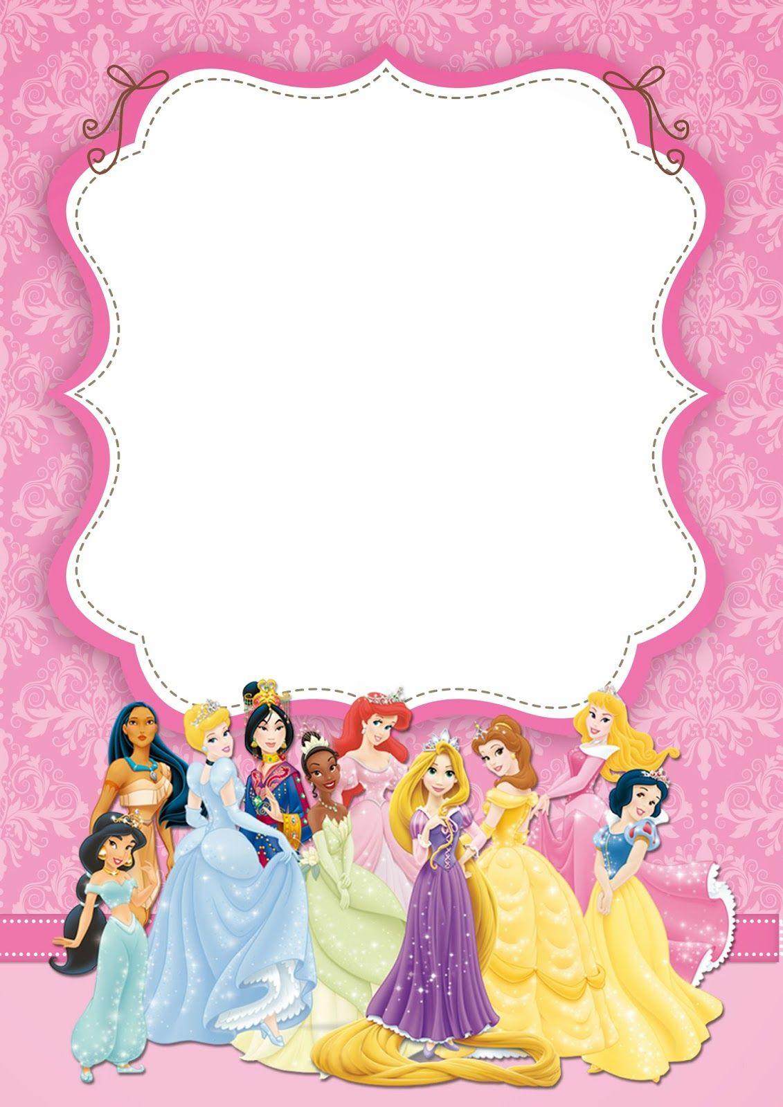 Disney Princess Party: Free Printable Party Invitations.   Oh My - Free Printable Disney Invitations