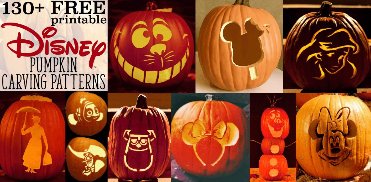 Disney Pumpkin Stencils: Over 130 Printable Pumpkin Patterns - Free Printable Pumpkin Stencils