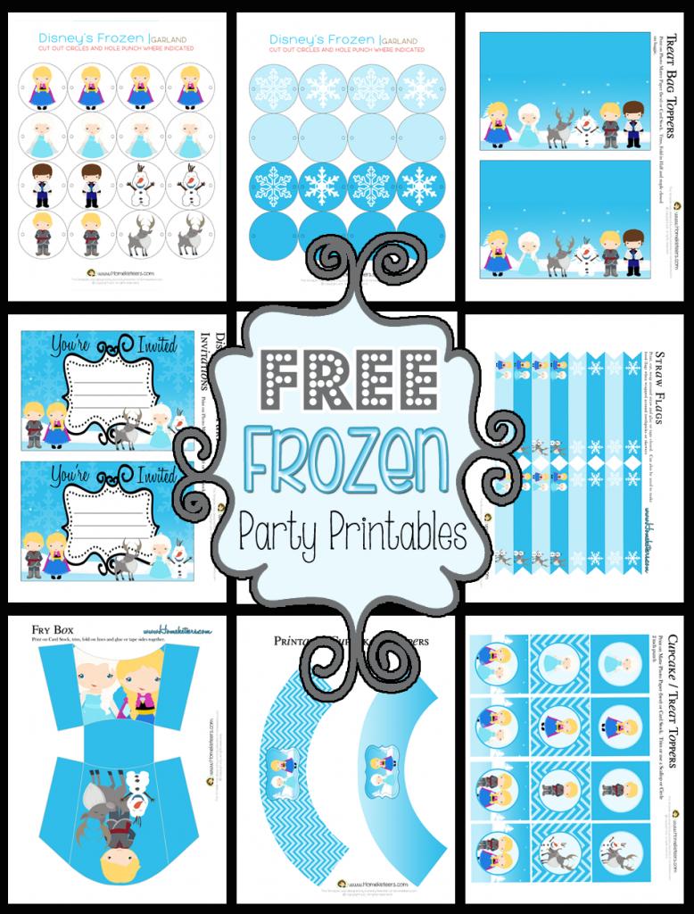 Disney's Frozen Party Printable Set ~ Free - Frozen Birthday Banner Printable Free