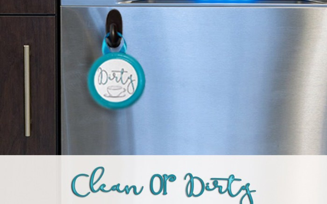 Diy Clean Or Dirty Dishwasher Sign With Free Printable   Hot - Free Printable Clean Dirty Dishwasher Sign