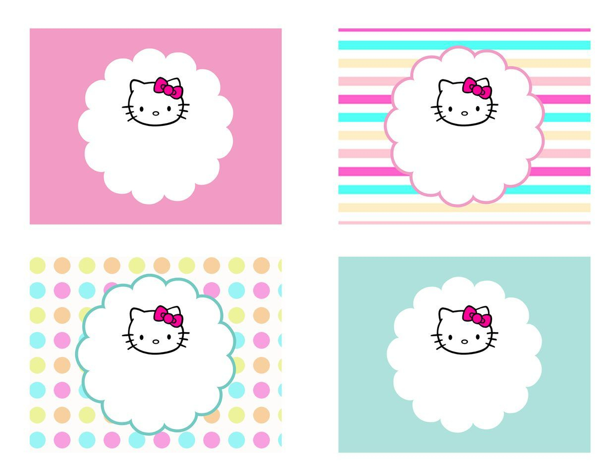 Diy Free Hello Kitty Label | Free Birthday Party Decorations - Hello Kitty Name Tags Printable Free