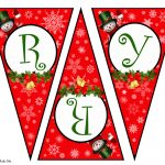 Diy Free Printable Christmas Banner | Vanitha Made Me   Free Printable Christmas Banner