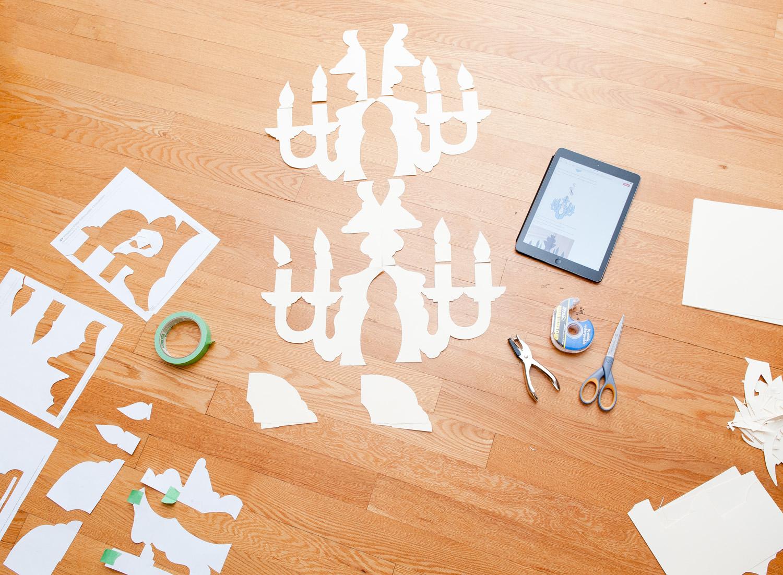 Diy Paper Chandeliers - Free Printable Chandelier Template