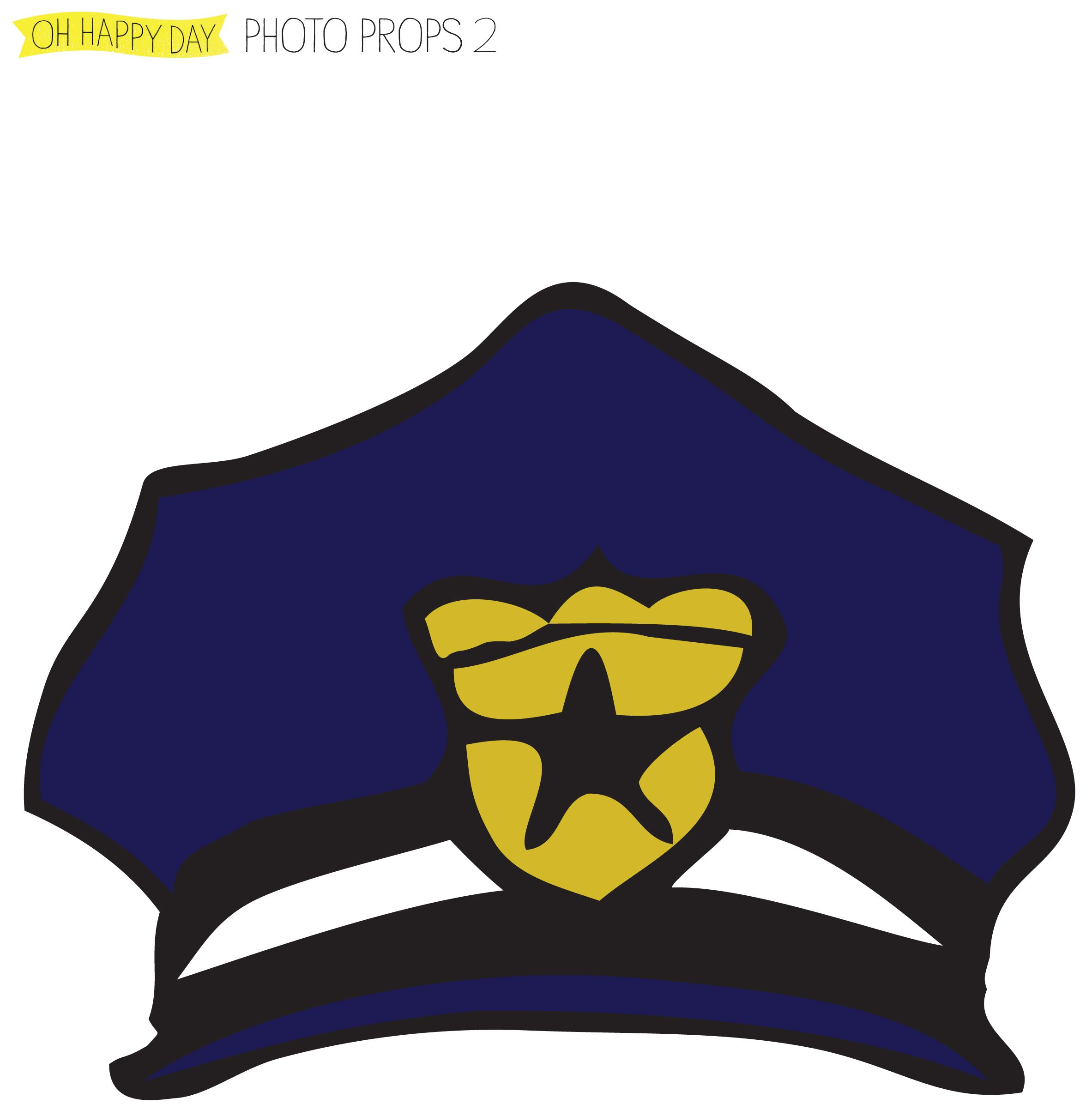 Diy Pdf Photo Booth Props Police Hat   Free Party Photo Booth Diy - Free Printable Police Hat