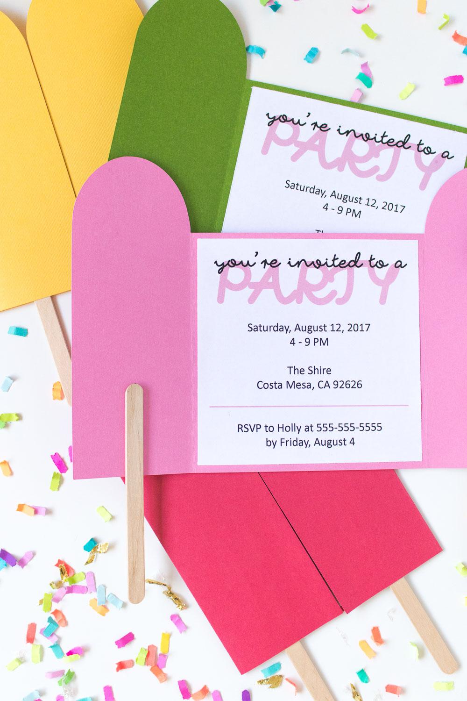 Diy Popsicle Invitations + Free Printable! | Club Crafted - Free Printable Popsicle Template