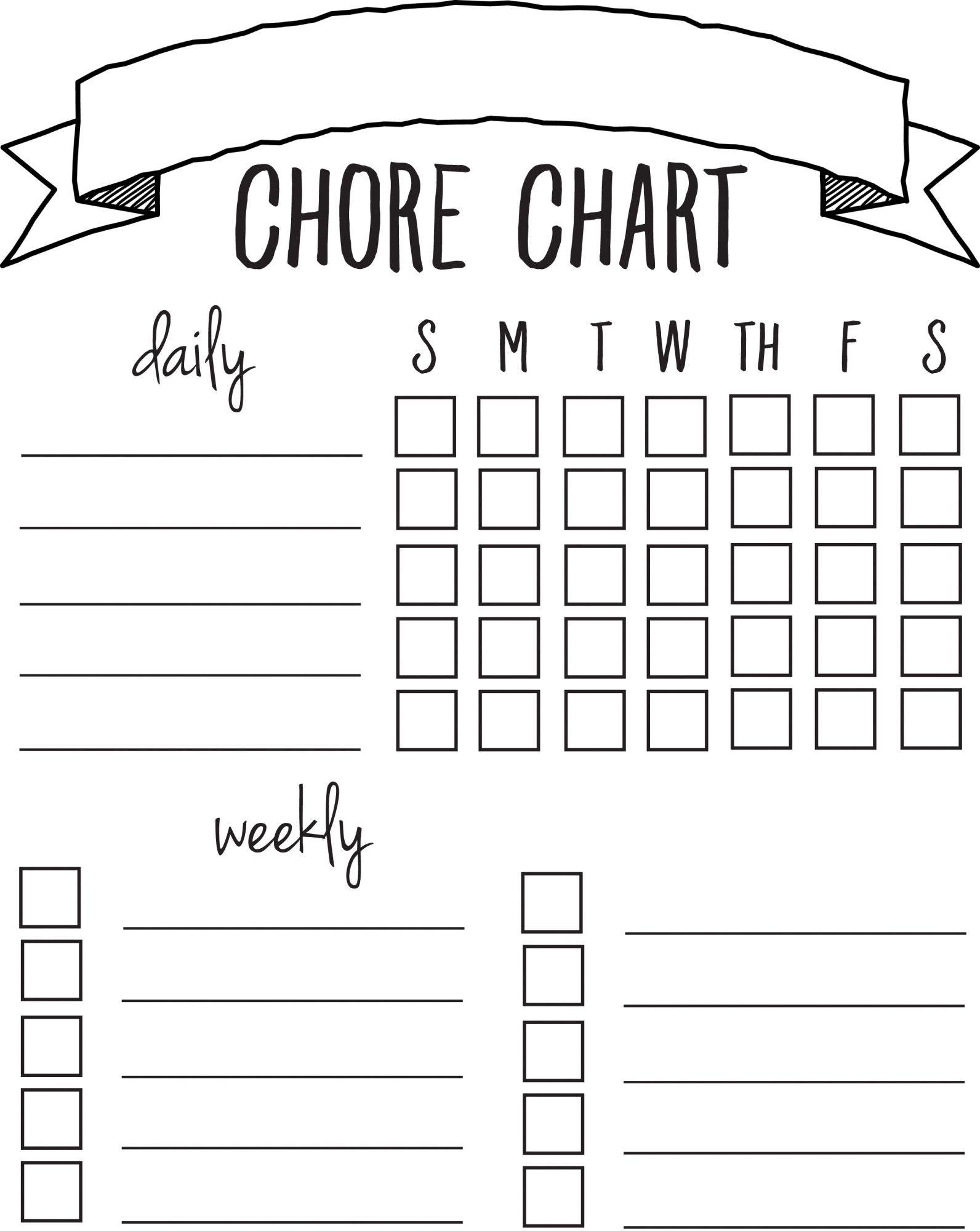 Diy Printable Chore Chart | Free Printables Nov/feb | Pinterest - Free Printable Chore List