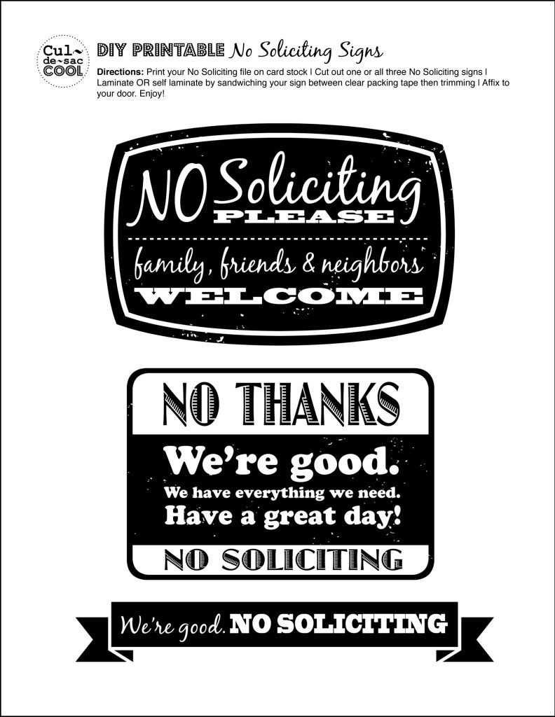Diy Printable No Soliciting Signs … | No Soliciting Signs | Pinte… - Free Printable Funny Office Signs