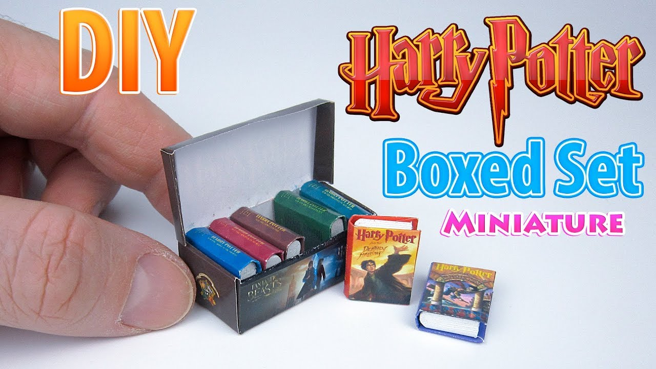 Diy Realistic Miniature Books | Dollhouse | No Polymer Clay! - Youtube - Free Printable Miniature Book Covers