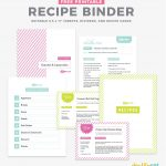Diy Recipe Book (With Free Printable Recipe Binder Kit!)   Free Printable Recipe Dividers
