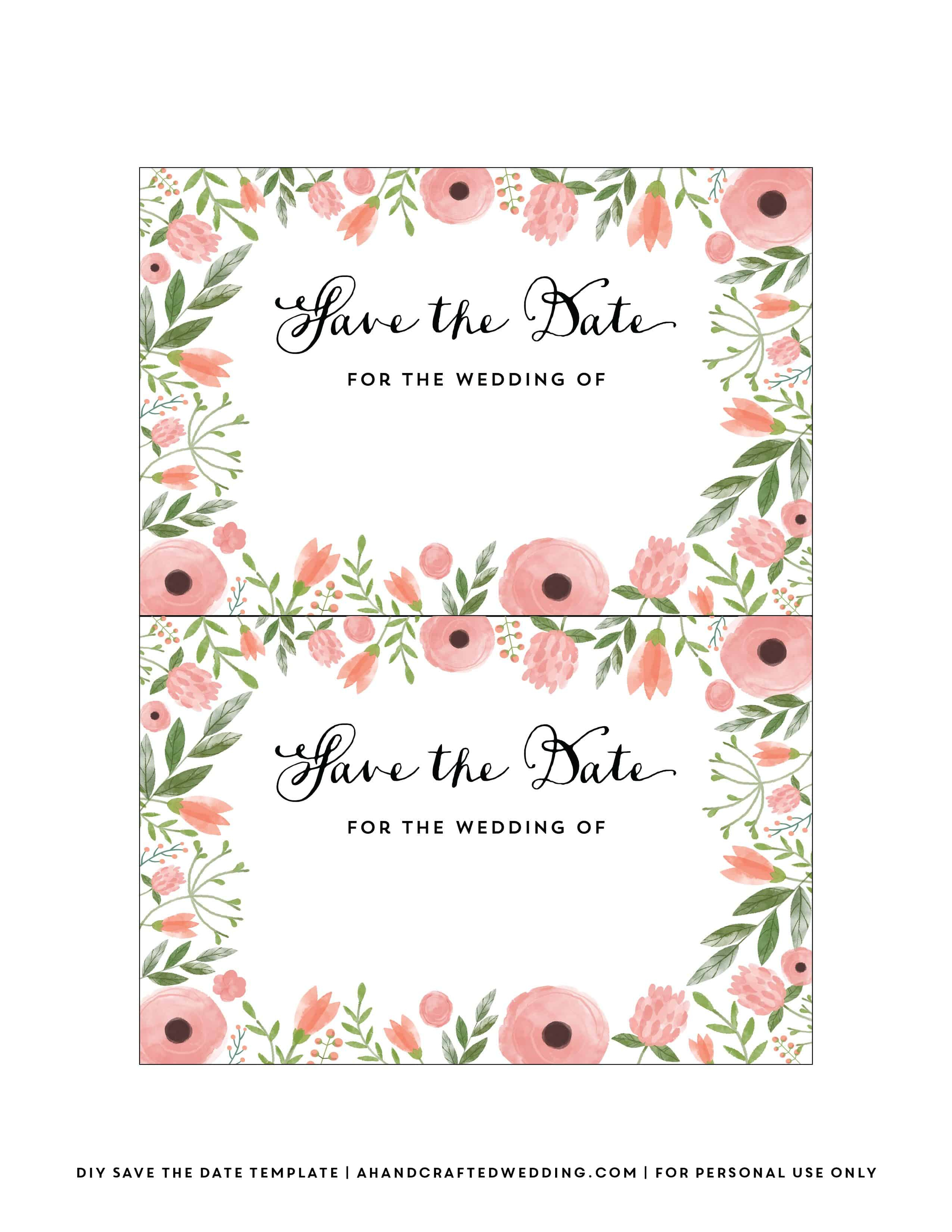 Diy Save The Date Postcard Free Printable   Mountain Modern Life - Free Printable Save The Date Invitation Templates