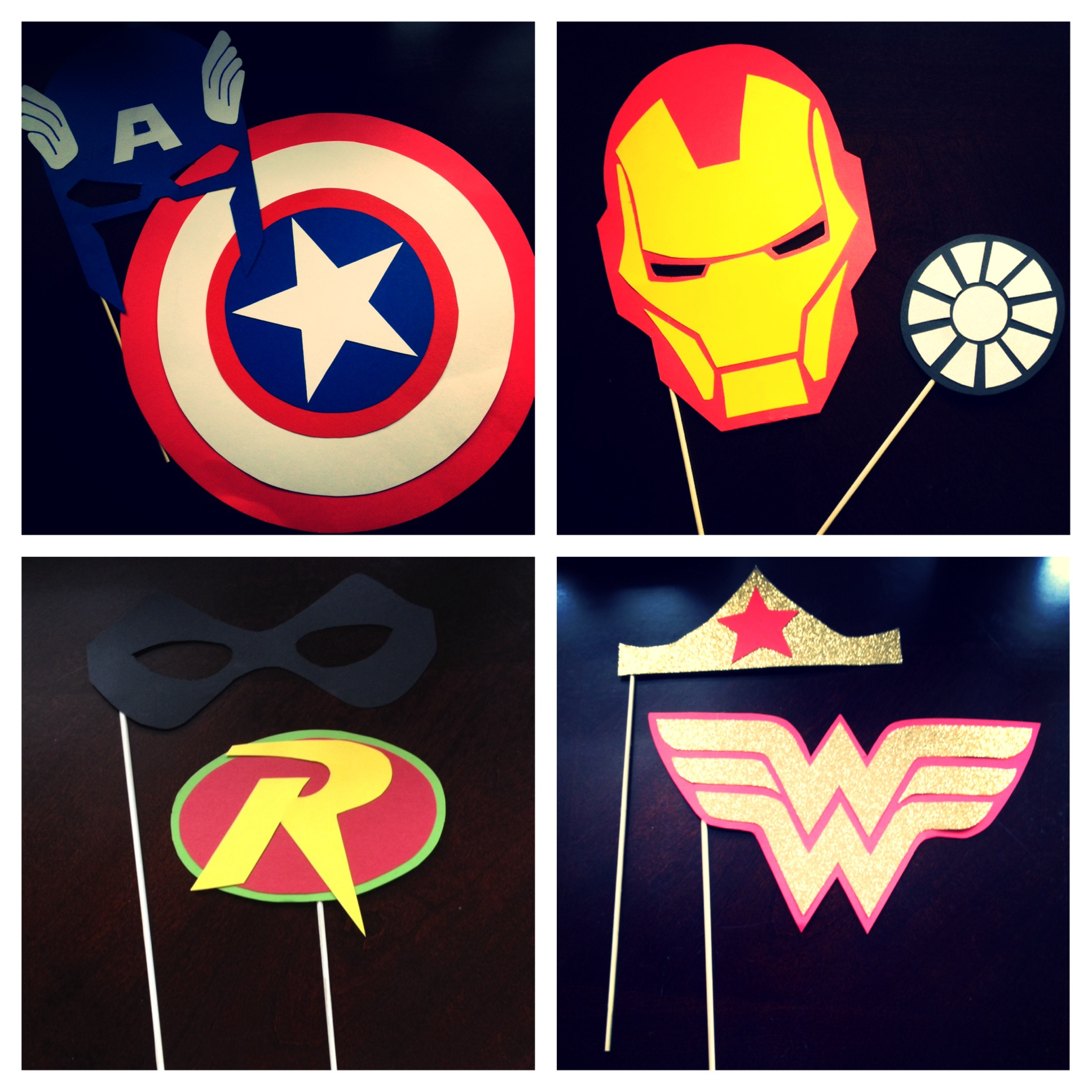 """Diy Superhero """"photo Booth Props"""" - Every Day Should Sparkle - Free Printable Superhero Photo Booth Props"""