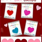 Diy Valentine's Day Cards For Kids With Free Printable!   Bullock's Buzz   Free Printable Childrens Valentines Day Cards