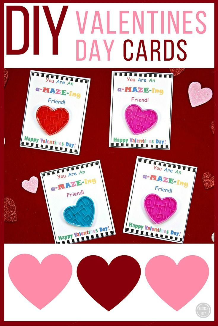 Diy Valentine's Day Cards For Kids With Free Printable - Free Printable Valentines Day Cards Kids
