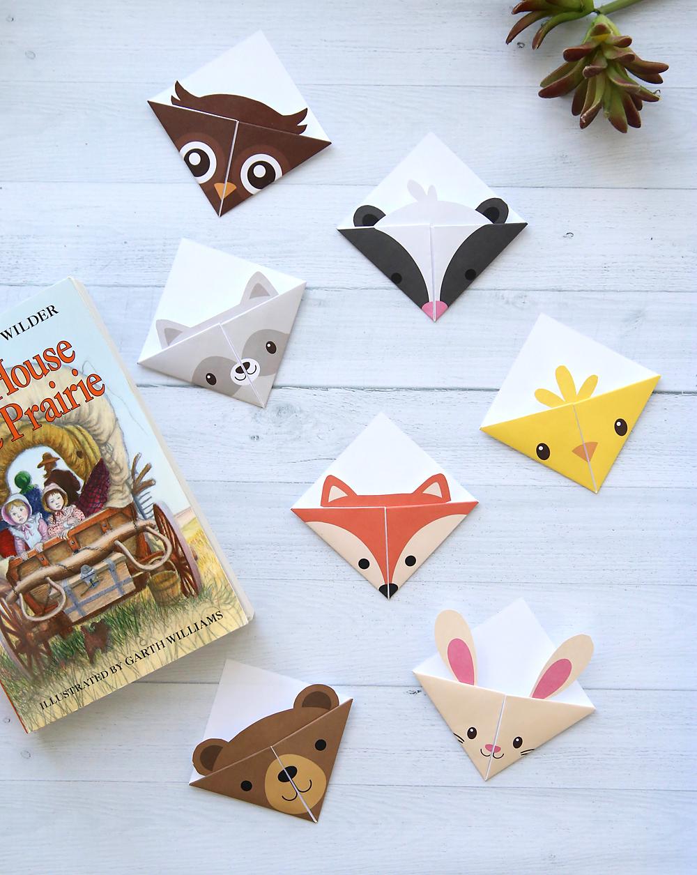 Diy Woodland Animals Origami Bookmarks {Print + Fold} - It's Always - Free Printable Owl Bookmarks