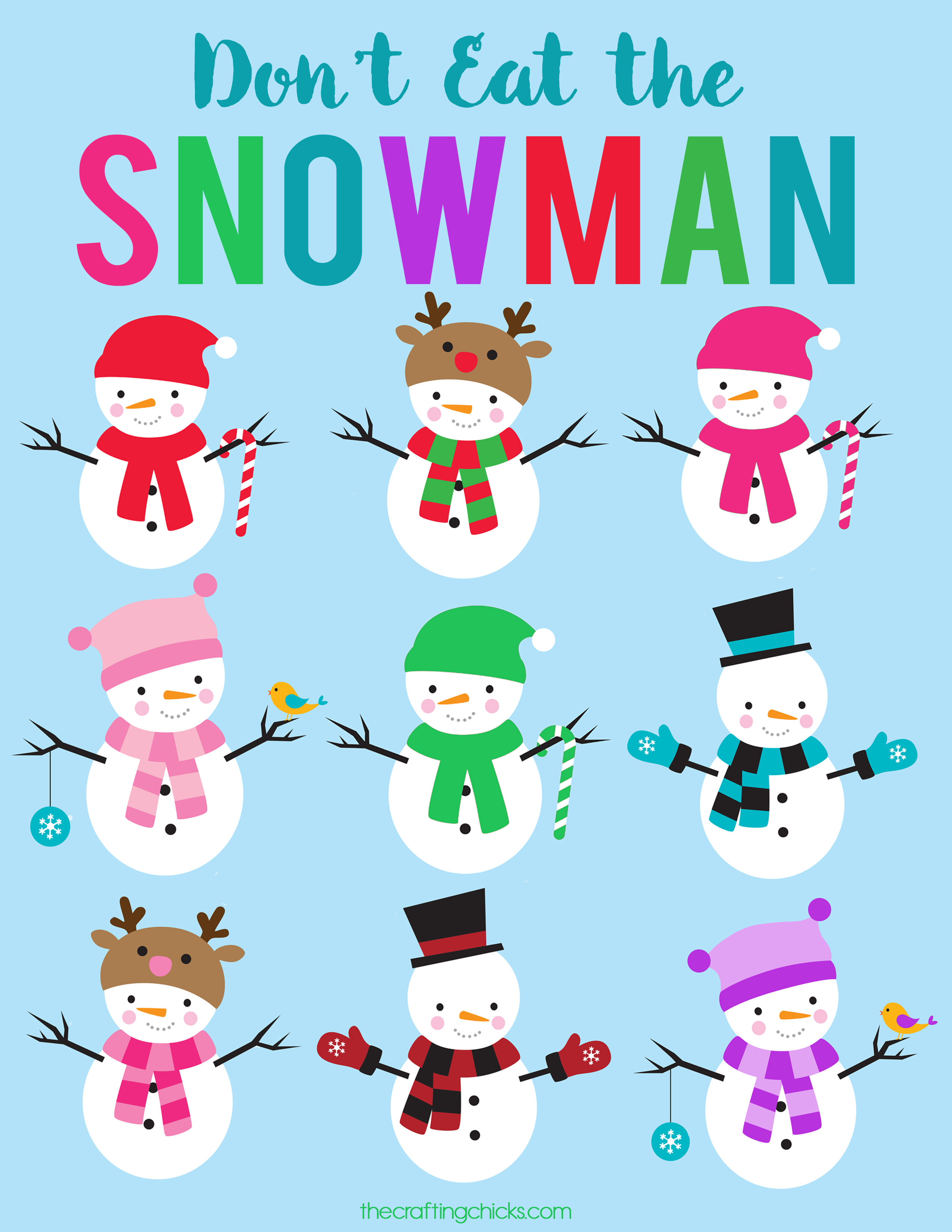 Don't Eat The Snowman Free Printable - The Crafting Chicks - Don T Eat Pete Free Printable