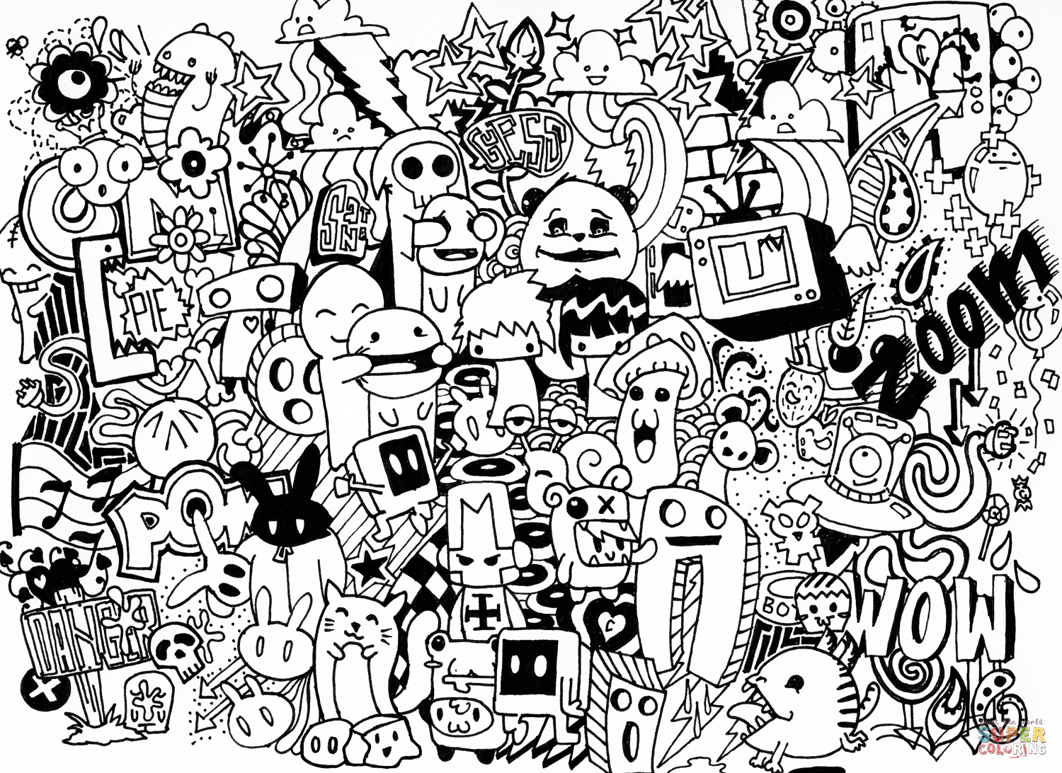 Doodle Art Coloring Pages | Free Coloring Pages | Doodled In 2019 - Free Printable Doodle Art Coloring Pages