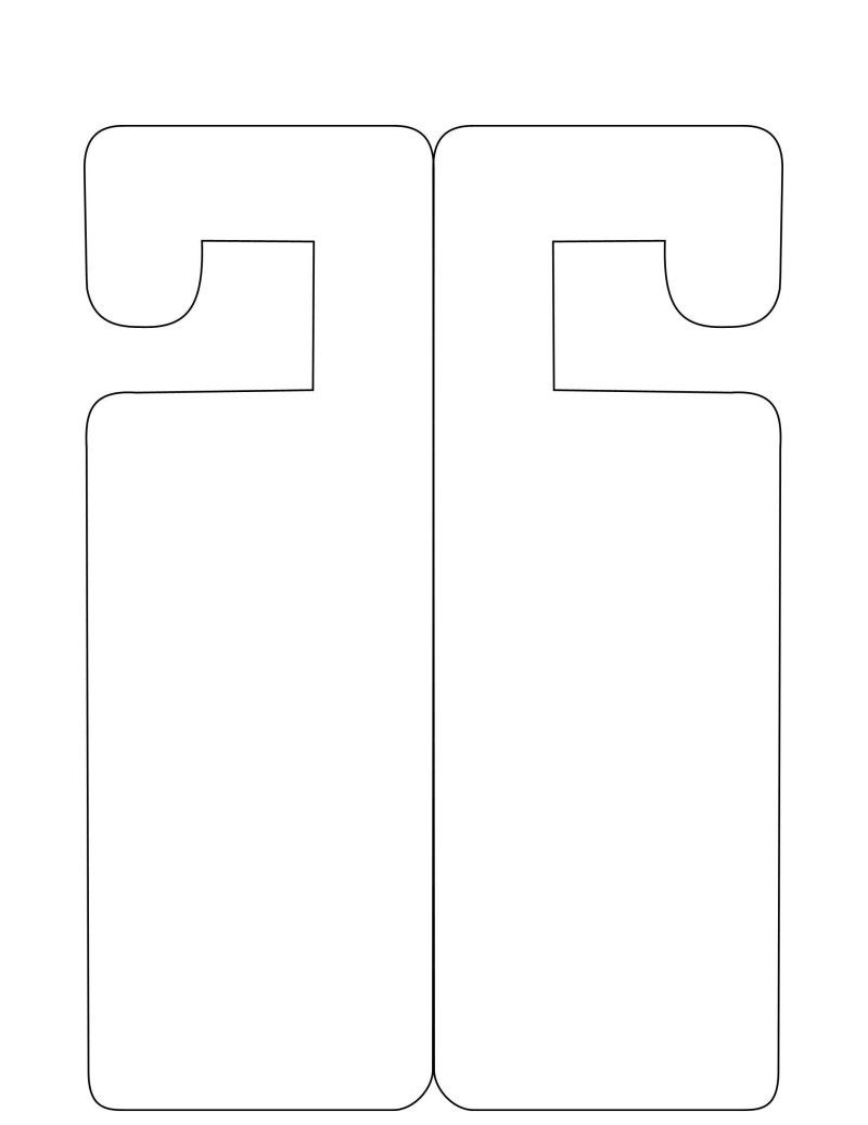 Doorhanger Template - Free To Use | Papercraft Templates | Pinterest - Free Printable Door Hanger Template