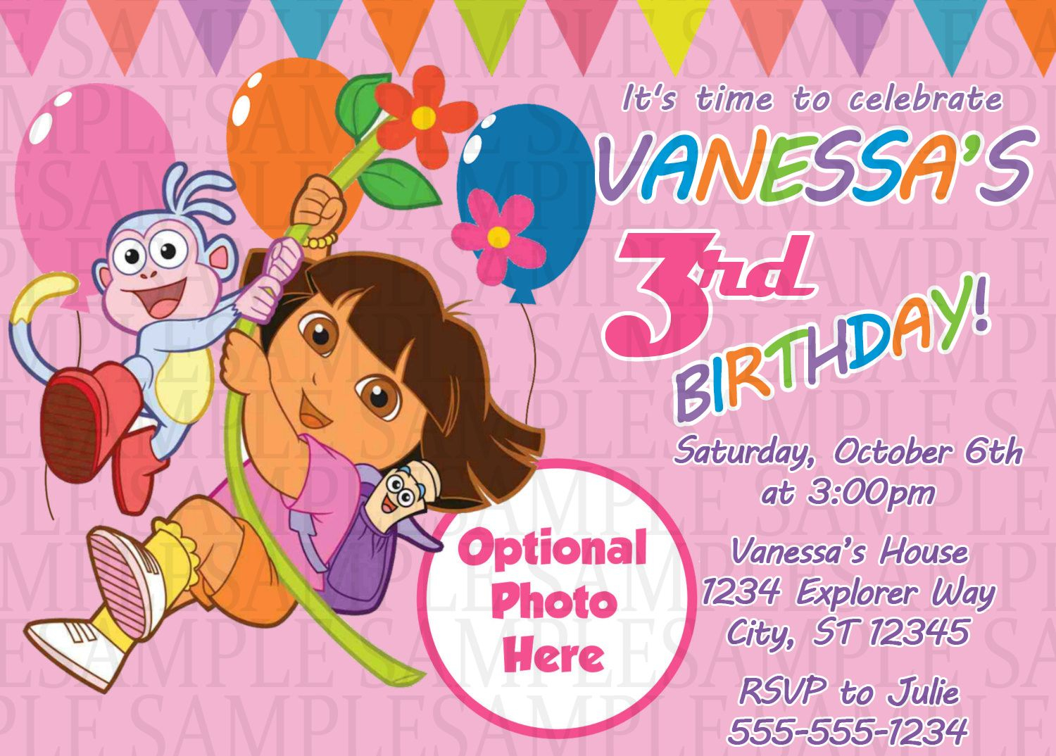 Dora The Explorer Birthday Invitation $11 | Kids Birthday - Dora The Explorer Free Printable Invitations