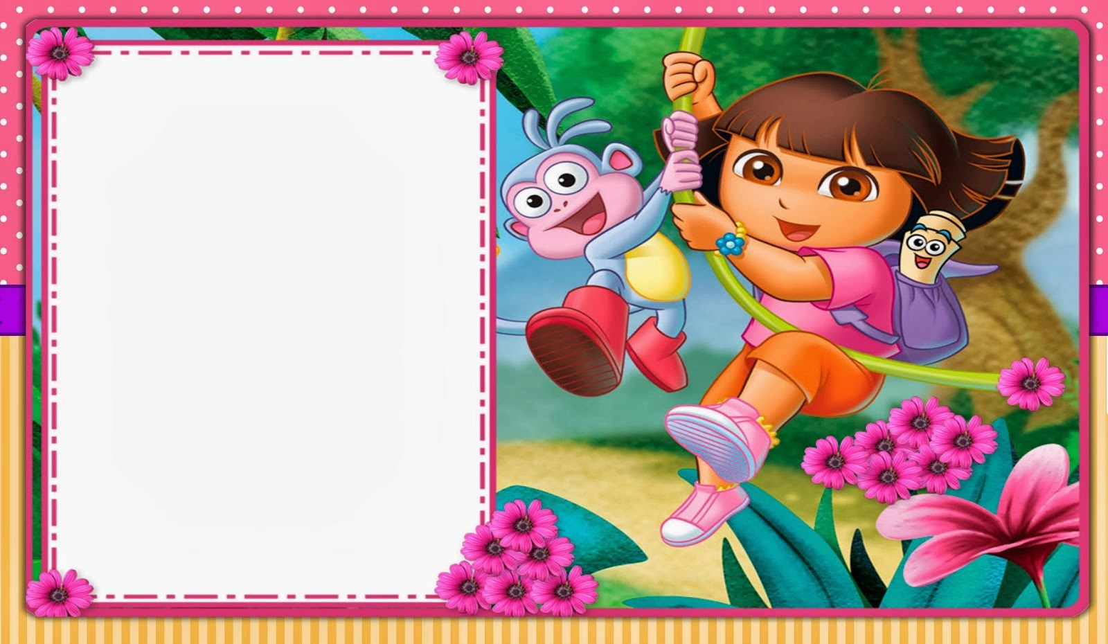 Dora The Explorer: Free Printable Invitations, Boxes And Party - Dora The Explorer Free Printable Invitations