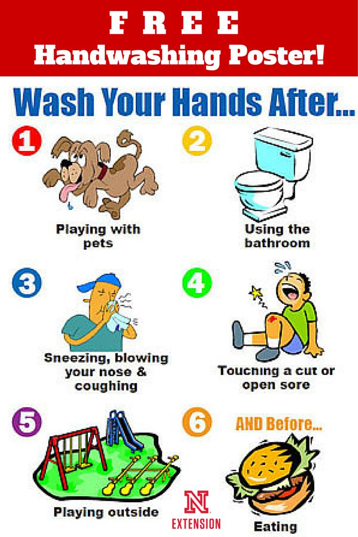 "Download A Free 8-1/2 X 11"" Handwashing Poster | Education | Hand - Free Printable Hand Washing Posters"