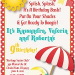 Download A Free Printable Party Invitation Template With A Clipart   Free Printable Water Park Birthday Invitations