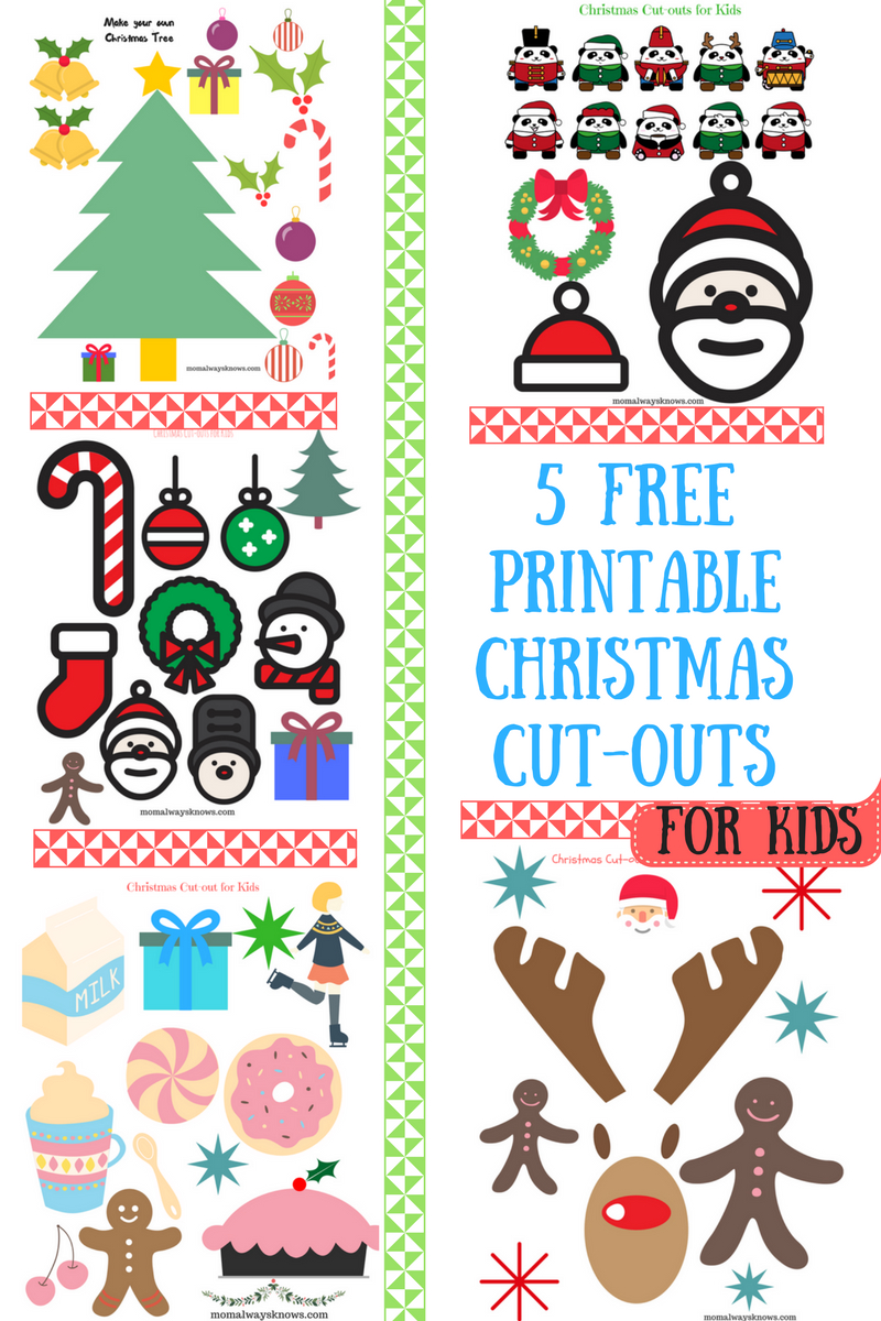 Download Christmas Cutout Greeting Cards. Glam Glitter Christmas - Free Printable Christmas Cutouts