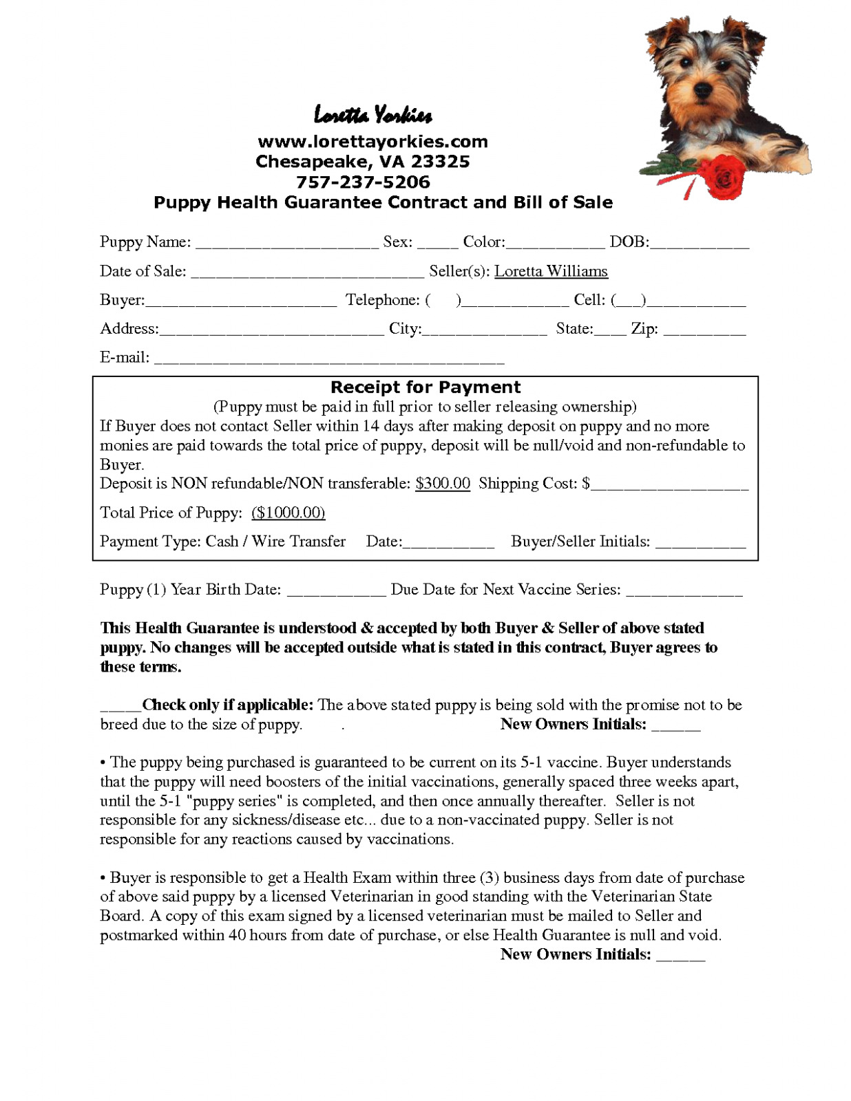 Download Free 8 Best Of Free Printable Puppy Purchase Agreement - Free Printable Puppy Sales Contract