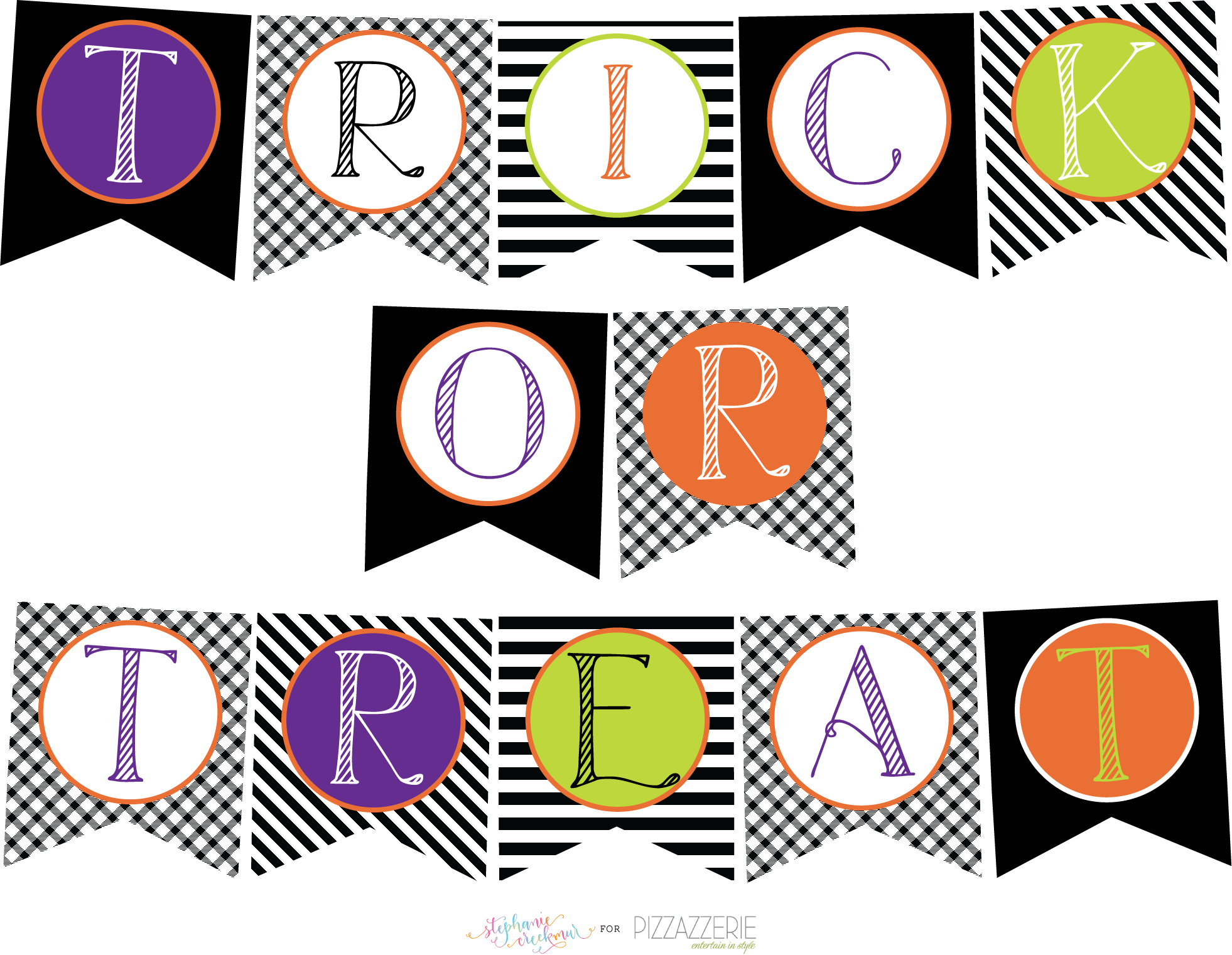 Download} Free Halloween Printables Collection! | Pizzazzerie - Free Printable Halloween Banner Templates