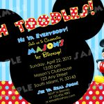 Download Free Printable Mickey Mouse Invitatons Birthday – Top   Free Printable Mickey Mouse Birthday Invitations