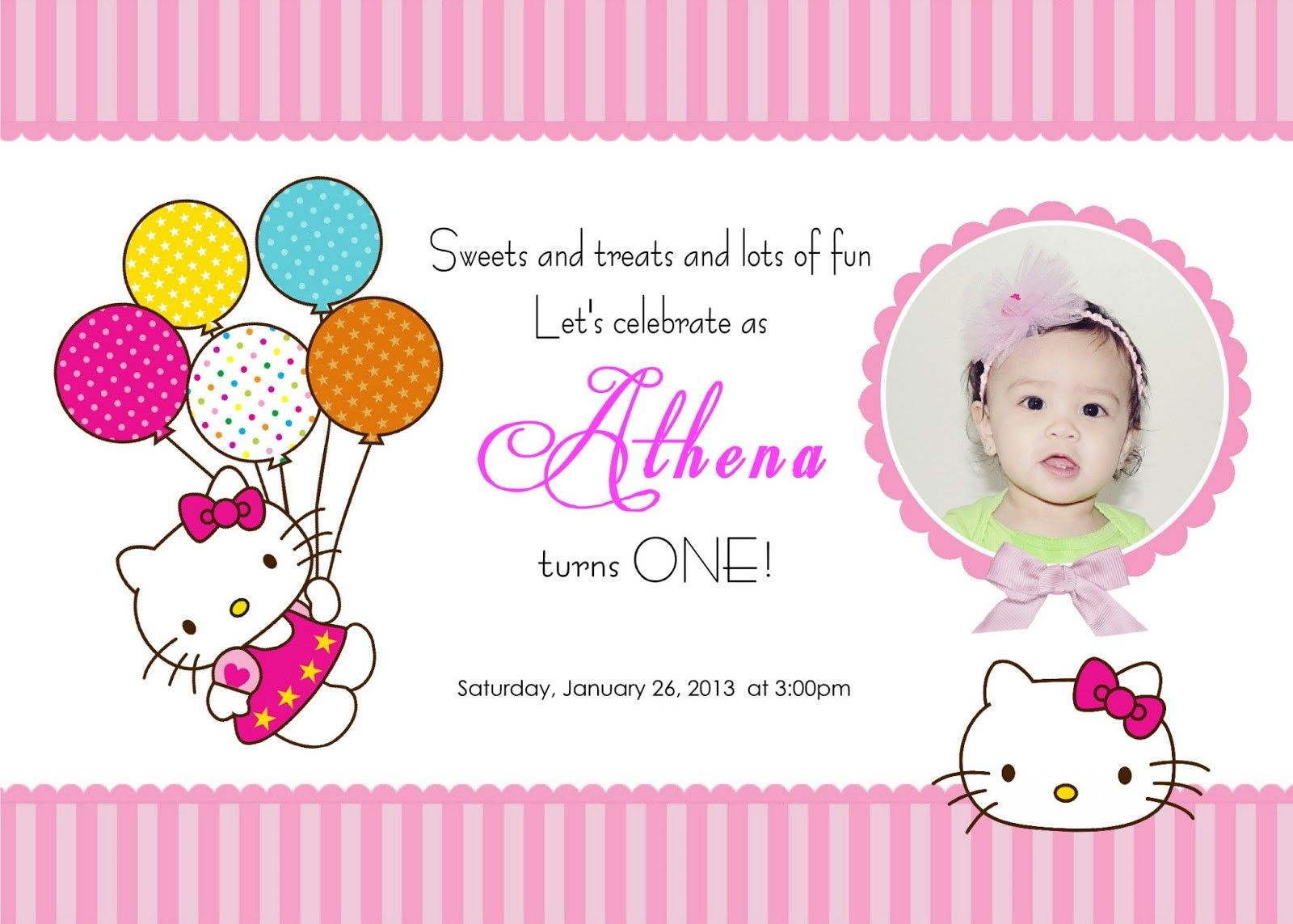 Download Free Template Hello Kitty Printable Birthday Invitations - Hello Kitty Birthday Card Printable Free