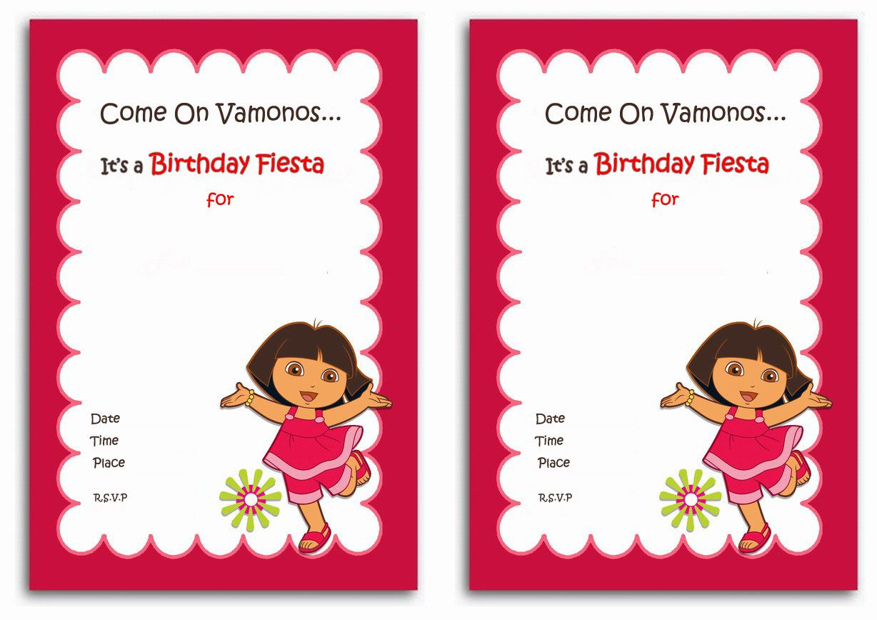Download Now Free 1St Dora Birthday Invitations Wording | Bagvania - Dora The Explorer Free Printable Invitations