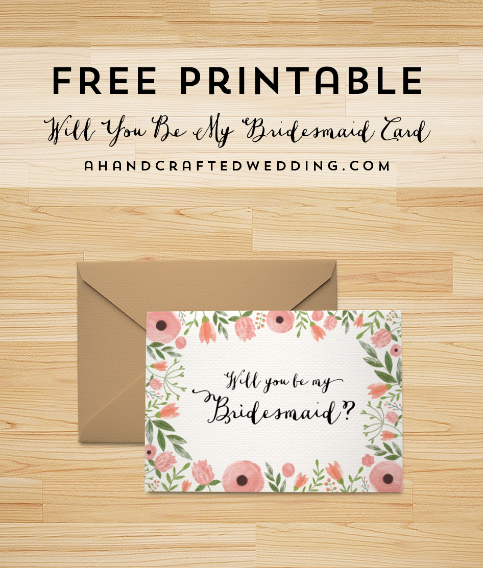 Download This Free Printable Will You Be My Bridesmaid Card, Plus - Free Printable Will You Be My Bridesmaid Cards