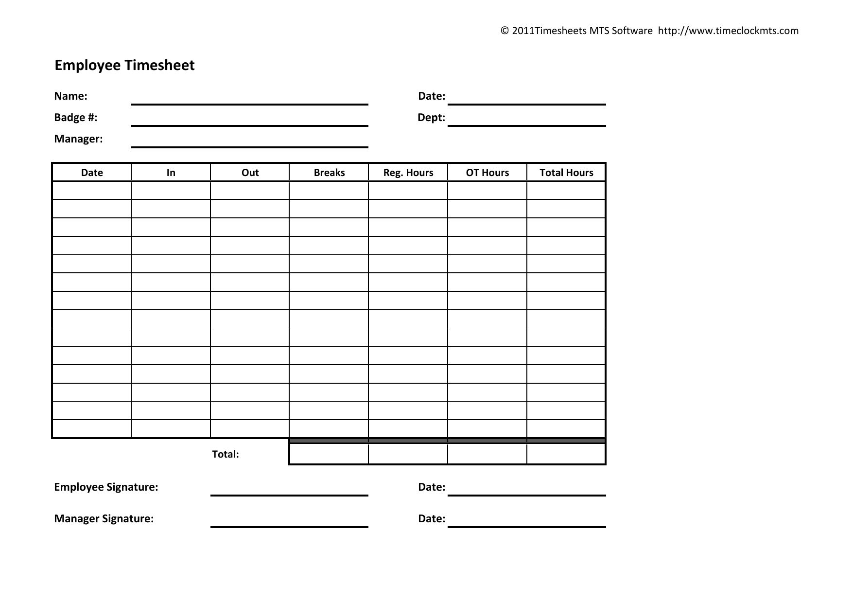 Download Weekly Timesheet Template   Excel   Pdf   Rtf   Word - Free Printable Weekly Time Sheets