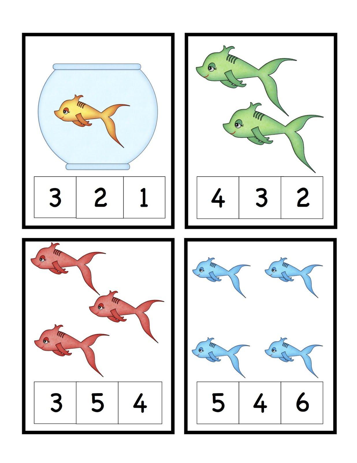 Dr Seuss Theme Free Preschool Printables Cute Fish Number Math - Free Printable Dr Seuss Math Worksheets
