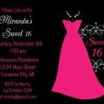 Dress Sweet 16 Birthday Party Invitations   Kids | Invitations   Free Printable Sweet 16 Birthday Party Invitations