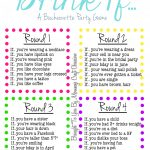 Drink If… A Bachelorette Party Game {Free Printable} | Bachelorette   Free Printable Bachelorette Party Games