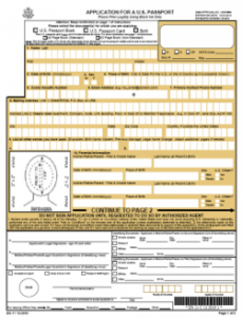 Ds-11 Online Application Form For A New Passport | Passports And - Free Printable Ds 11