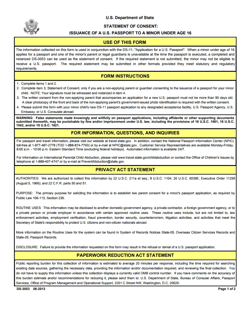 Ds-3053 Form- Free Download, Create, Edit, Fill, Print Pdf - Free Printable Ds 11