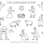 √ Christmas Nativity Coloring Pages To Print   Free Printable Nativity Scene Pictures